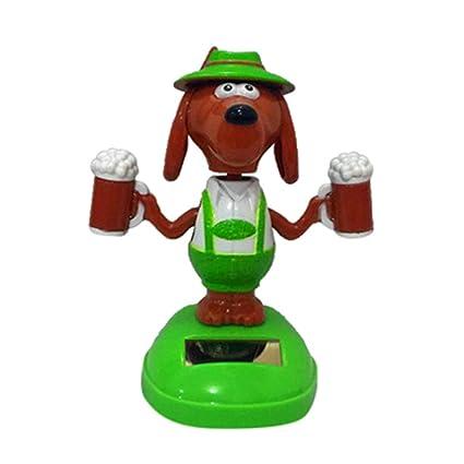 D Iuhan Cute Cartoon Solar Powered Dancing Animal Swinging Animated Bobble Dancer Toy Car Decor New