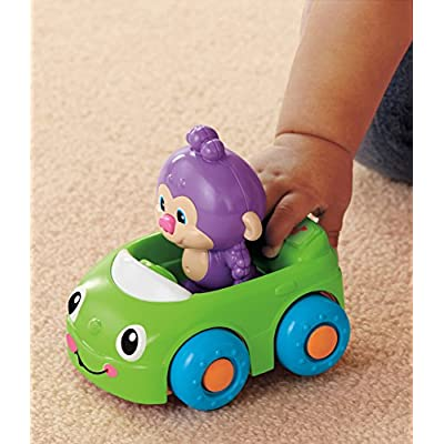 Fisher-Price Laugh & Learn Monkey's Learning Car: Toys & Games