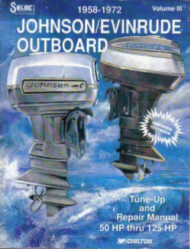 USL1306(009-8) Used Seloc Johnson-Evinrude Outboards 3-4 Cyl 1958-1972 Repair Manual