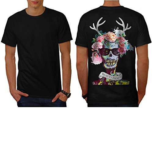 Skull Flower Zombie Soul Costume Men NEW S T-shirt Back | Wellcoda (Zombie Football Costume)