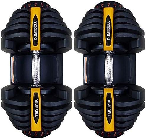 MSHOME Adjustable Dumbbells, Fitness Dumbbell Weights, Adjustable Dumbbell for Men and Women Home Gym Workout Exercise Training