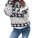 turnstile Women Xmas Christmas Sweaters Duseedik Floral Print Long Sleeve Blouse Top Sweatshirt