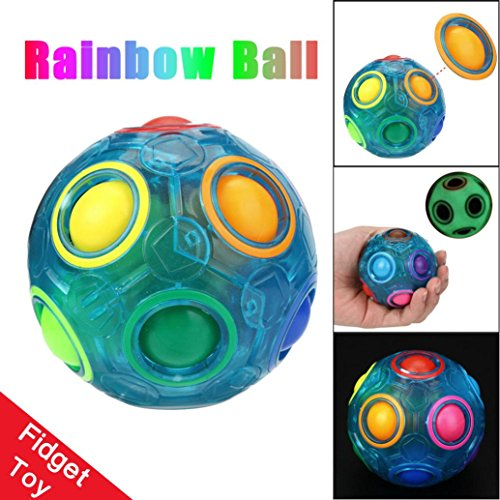 Lobster Pot Adult Costumes (Letong 6.56.56.5cm Luminous Stress Reliever Magic Rainbow Ball Fun Cube Fidget Puzzle Education Toy For Kids/Adults (Blue))