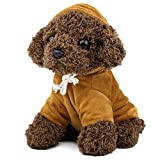 Zooawa Bed Time Stuffed Animal Toys, Cute Soft Plush Poodle Teddy Dog Figure - Brown