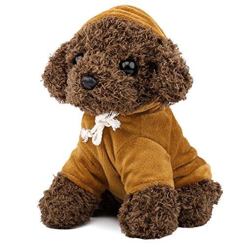(Zooawa Bed Time Stuffed Animal Toys, Cute Soft Plush Poodle Teddy Dog Figure - Brown)