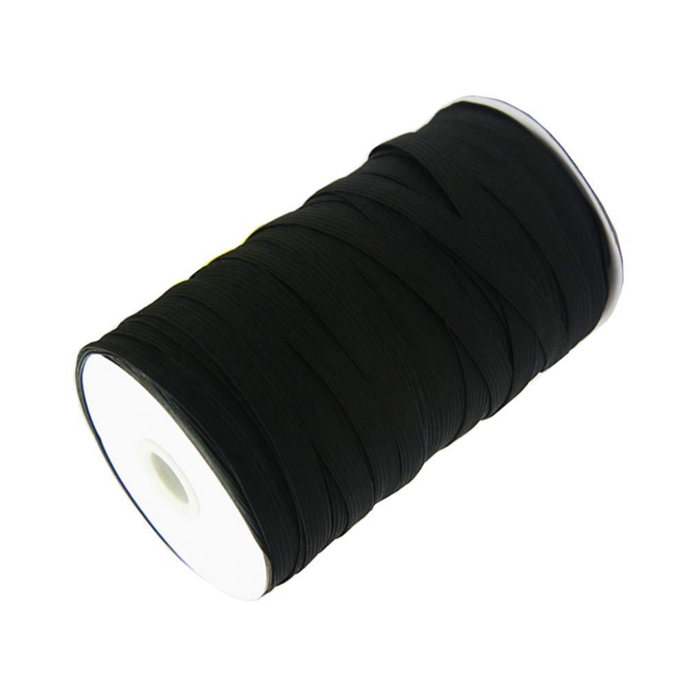Springy Stretch Braided Elastic Cord Elastic Band Black Abbaoww 1//4 Inch 70 Yards Braided Elastic