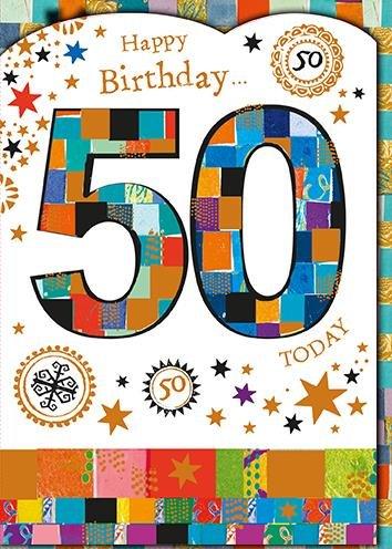Tarjeta de felicitación (pr7742) cumpleaños - edad 50 ...