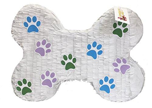 APINATA4U Puppy Paw Print Dog Bone (Paw Print Dog Bones)