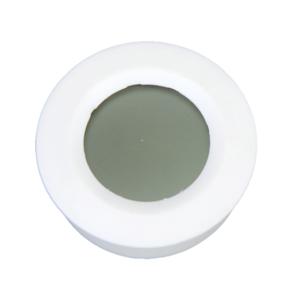 Phenovo Thermomètre Hygromètre Numérique Rond pour Reptile - Blanc