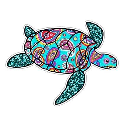 Amazon Com Paisley Sea Turtle Sticker Decal By Megan J Designs