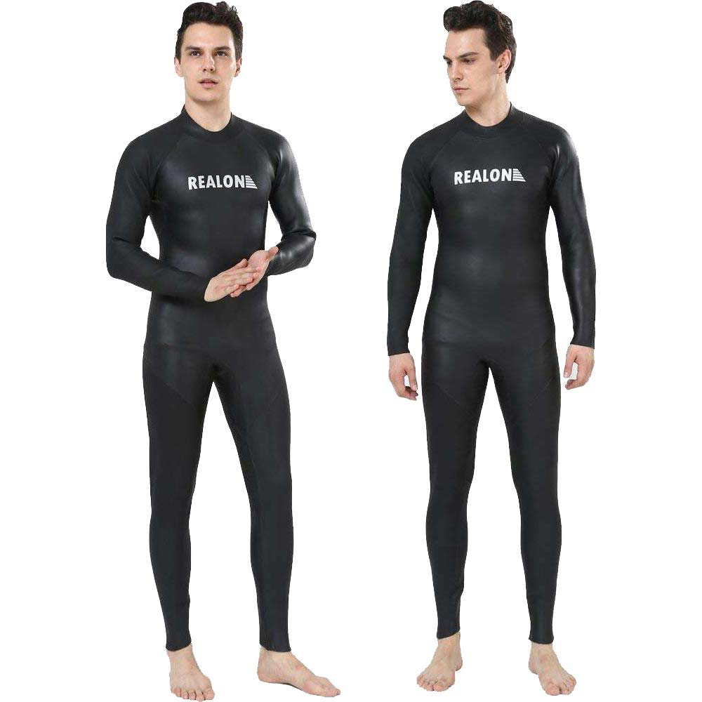ZCCO Ultra Stretch 3mm Neoprene Wetsuit Surfing Scuba Diving Swimming one Piece for Men Women-Snorkeling Front Zip Full Body Diving Suit
