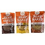 Bear Naked 100% Natural Granola 3 Flavor Variety Pack: (1) Bear Naked Chocolate Elation Granola , (1) Bear Naked Maple-icious Pecan Granola, and (1) Bear Naked Honey Almond Protein Granola, 12 Oz. Ea.
