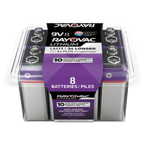 Rayovac - Lithium Batteries, 9V, 8/Pack