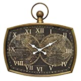 Three Hands Metal Frame Wall Clock