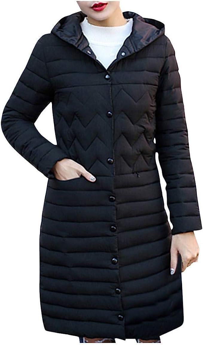 Misaky Womens Overcoat Winter Warm Faux Fur Hooded Thick Warm Slim Jacket Long Coat