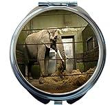 Rikki Knight Elephant in Cage Design Round Compact Mirror