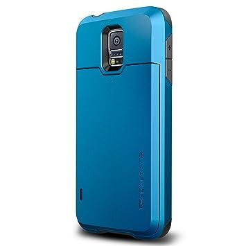 spigen Slim Armor - Carcasa para Samsung Galaxy S5 (con Ranura para Tarjetas), Azul