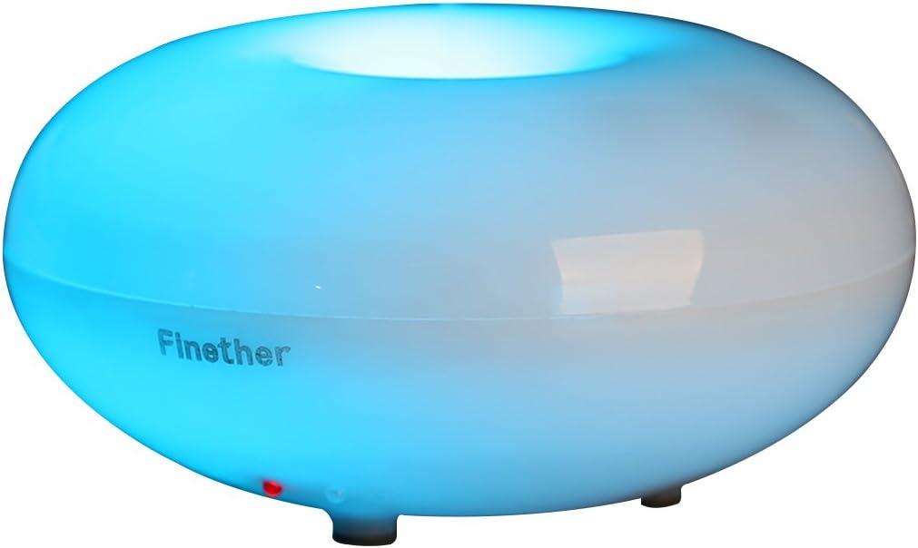 Finether - Difusor de aromas/humidificador/purificador ultrasónico ...
