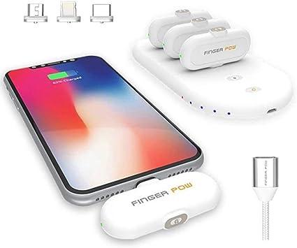 Quiet.T Finger Pow 5000mAh Potencia móvil, Cargador móvil portátil ...