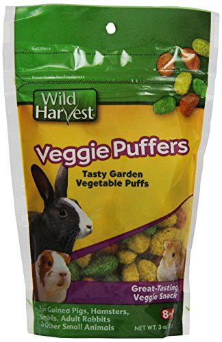 51PbJUJIU6L - Wild Harvest Veggie Puffers for Small Animals, 3-Ounce (P-84142)