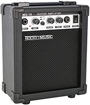 ROCKET - Amplificador para guitarra (10 W), color negro: Amazon.es ...