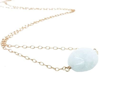 AquaMarine and Gold Filled Necklace