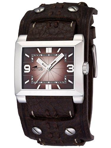 Lotus 15700/2 - Reloj analógico de caballero de cuarzo con correa de piel marrón - sumergible a 50 metros: Amazon.es: Relojes