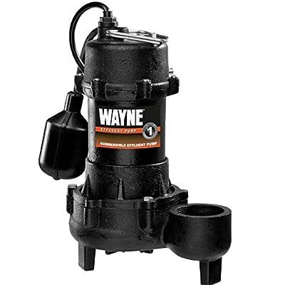 WAYNE EFL30 1/3 HP Cast Iron Submersible Effluent Pump With Piggyback Tether Float Switch