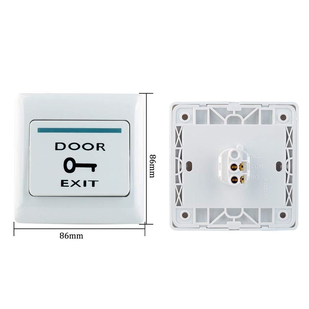 uoweky Sistema de Control de Acceso de la Puerta Kit Controlador Independiente RFID con X Bolt Lock K2000+Bolt Lock 10pcs125KHz Llavero y Tarjeta Bot/ón de Salida 12VDC Fuente de Alimentaci/ón