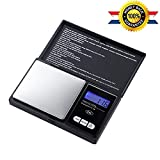 Elite Digital Pocket Scale, with Back-lit LCD Display, Mini Digital Weighing Scale for Jewelry Coins Reload and Kitchen Scale 1000g by 0.1g(1000g/0.1g)