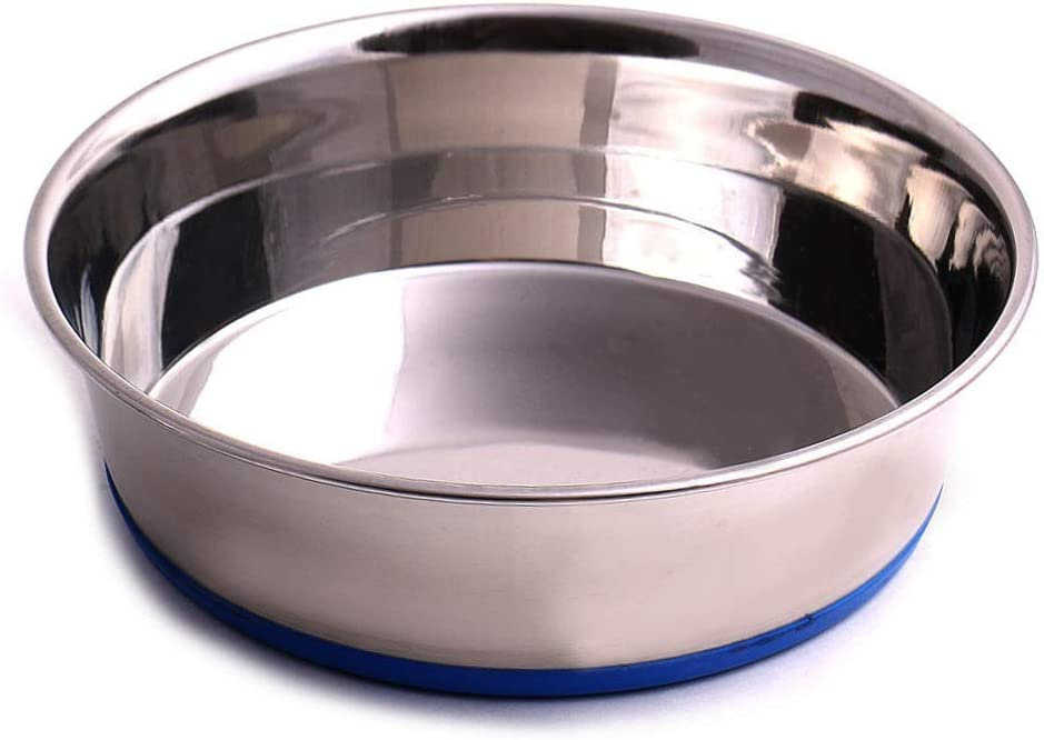 Max and Neo Heavyweight Non-Skid Rubber Bottom Stainless Steel Dog Bowl - We Donate a Bowl to a Dog Rescue for Every Bowl Sold (Small - 32oz - 6.5