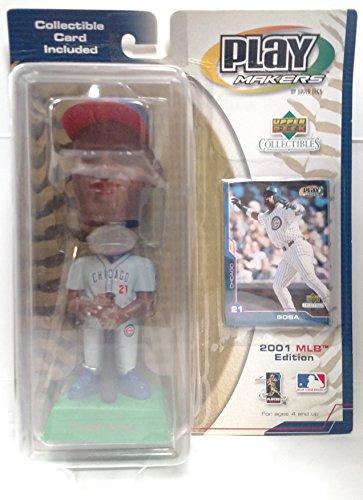 (Chicago Cubs Sammy Sosa 2001 Upper Deck Play Makers Bobblehead )