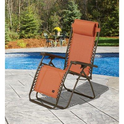 Zero Gravity Chair with Headrest - Terra Cotta