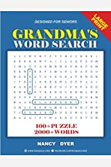 Grandma's Word Search: 100+ Puzzle 2000+ Words: Volume 1 (Fun Space Club - Word Find Puzzle Books for Adults) Paperback