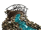 Fairy Garden Miniature Blue Water Stream & Bridge Kit