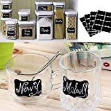 Chiak Chalkboard Labels Complete Bundle: 40 Premium Stickers for Jars .The Best Large and Reusable Chalkboard Labels to Decorate Your Pantry Storage & Office