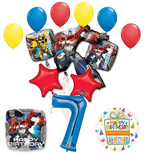 Mayflower Products The Ultimate Transformers 7th Birthday Party Supplies Balloon Decorations]()