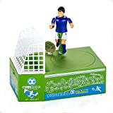 Cestlafit Cute Soccer Shooting Coin Bank, Coin Munching Toy Money Box, Football Player Toy Coin Bank, Money Saving Box, Money Bank For Kids