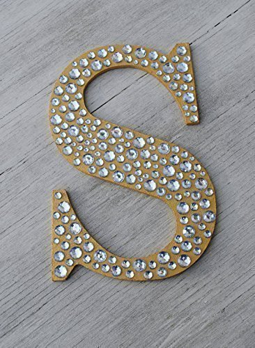 Sparkle Gold Bling Decorative Wall Letters, Wedding Decor