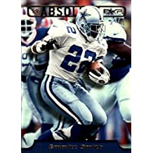 Emmitt Smith football card (Dallas Cowboys Hall of Fame) 1999 Playoff Absolute #81