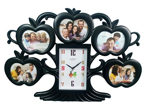 Buy Think 3 Designer Clock Large Size Apple Tree Wall Clock With Black  Colour Photo Frame For Home Decoration AND For Luxury Gifts, Black Online  At Low ...