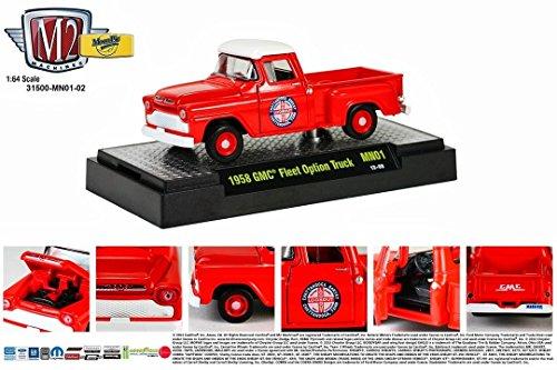 (1958 GMC Fleet Option Truck (Red) MoonPie Series M2 Machines Auto- Premium Edition-1:64 Scale Die-Cast Vehicle MN01 )