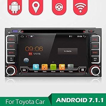 """Cámara!! Android 7.1 2 Din 6.95"""" Quad-Core Coche Navegación GPS Estéreo"""