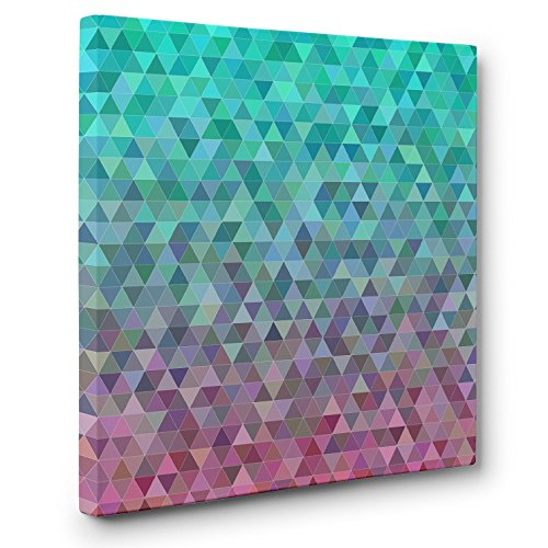 Absract Triangles Digital CANVAS Wall Art Home Décor