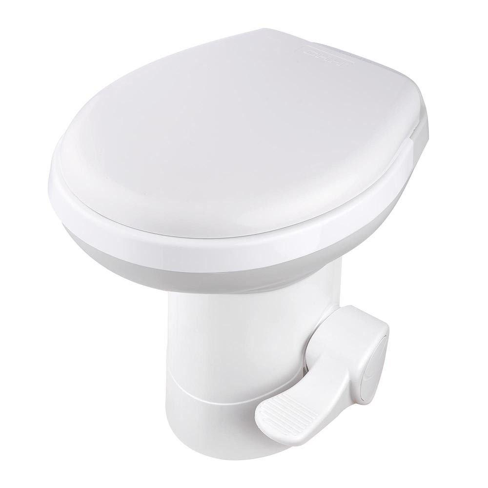 20'' RV Camper Toilet Gravity Flush Toilet Foot Pedal Home Caravan Travel Camping
