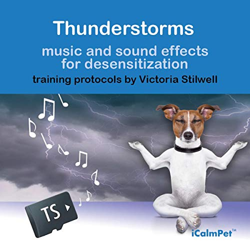 iCalmDog Thunderstorms | Desensitization Training Program by Victoria Stilwell with Clinically-Tested Music by Through a Dogs Ear | Micro SD Sound Card