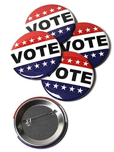 Vote Pinback Buttons - 2.25 Inch Round - - Vote Button