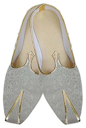 INMONARCH Diseñador de Marfil Hombres Zapatos de Boda MJ0100