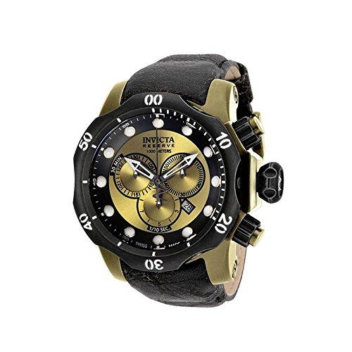 Invicta Venom 53,7 mm, acero inoxidable, oro + acero inoxidable + piedra envejecido negro + Dial de Oro 5040.d cuarzo: Amazon.es: Relojes