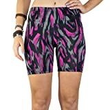 Booties, Women's Breathable Yoga Exercise Swim Party Shorts :: Fuchsia City